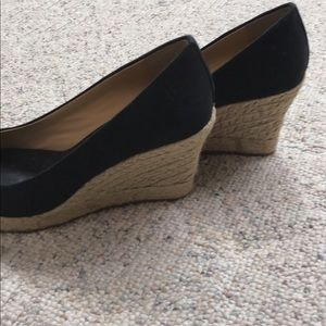 Black J Crew Espadrille Wedges
